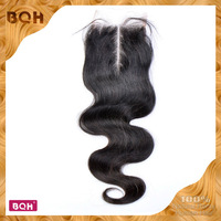 "Top quality Hot Saes brazilian hair body wave virgin Hair with Lace Top Closure 4""*4"" queen hair products swiss lace closure"