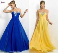 Free Shipping Beaded/ Sequined Sweetheart Floor-Length Chiffon Formal Evening Dress Gown vestido de festa