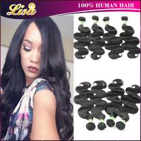 Ali moda hair 4pcs lot brazilian virign hair extension body wave 5A unprocessed virgin human hair weave #1b  brazilan body wave