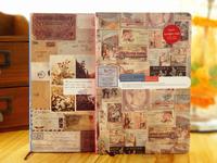 European Vintage Hard Copybook  Diary book School Office notepad Beautiful illustrator Notebook  school Supplies Free Shipping