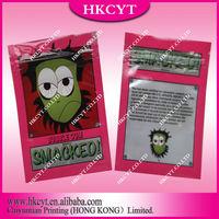 High quality Smacked 5g herbal incense potpourri zipper bag / plastic potpourri spice bag