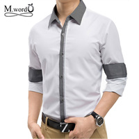 high Quality 2014 new Free shipping men's lcausal Shirts ong Sleeve Men Shirt Slim Fit Male Cotton shirt Plus big Size M-3XL