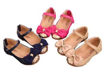Высокое качество детские сандалии кожаные одиночные обувь дети по уходу за детьми девушки принцесса боути плоские туфли