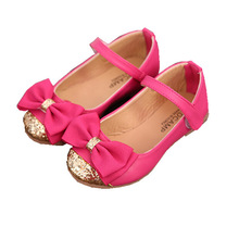 high quality children s sandals leather single shoes kids child girls princess bowtie flat shoes