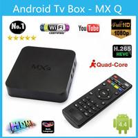 Wholesale 10 pcs MXQ Android 4.4 TV BOX 1GB RAM 8GB ROM Quad Core Amlogic S805 Cortex-A5 Support WIFI  HDMI H.265 DLNA Mini PC