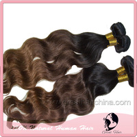 """Brazilian Virgin Remy Hair Weaving Ombre Human Hair Extension 16""""-20"""" Body Wave Hair Weft 1 Piece/Lot Free Shipping"""