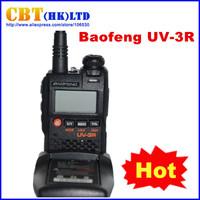 Baofeng Dual band FM UV-3R VHF&UHF Walkie Talkie Bao feng UV 3R two way radio VHF:136-174 UHF:400-470MHz 99CH Free Shpping