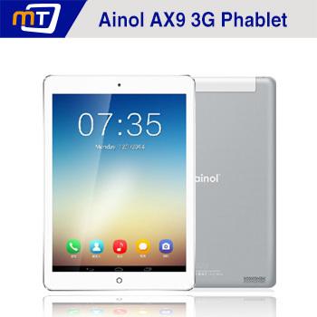 Nuovo 9,7 pollici ainol ax9 numy 3g tablet mtk8382 quad core 1,3 GHz schermo ips Android 4.2 1g 8gb supporto mult- la lingua doppia fotocamera
