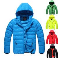 2014 New Fashion Autumn Winter Boys Coat Children's Clothes Kids Karm Jacket Boy's Down Outerwear 5Color