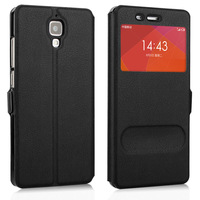 Xiaomi Mi4, High Quality View Window Style PU Leather Case Cover For  Xiaomi Mi4 M4 Mobile Phone Cases