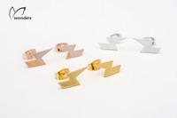 Stainless Steel Alloy lightning Stud Earrings For Women free shipping