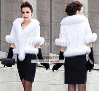 Free shipping 2014 Fashion mink fur cape  outerwear elegance overcoat  raccoon fur cape cloak ,Made in Korea Plus size S-6XL