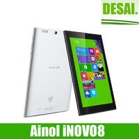New arrival Ainol iNOVO8 Intel T3735d Win8 Tablet PC 8 Inch IPS 1280x800 2GB DDR3L+32GB Dual camera 5.0MP HDMI Bluetooth Office