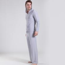 New free shipping men's Pyjamas Set Men's solid color Yoga nightwear Ice silk casual home nightwear bathrobe have S/M/L sizes  (China (Mainland))