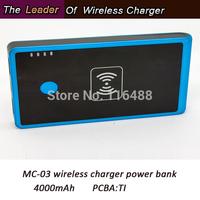 2014 new product QI standard wireless power bank 4000mAh free shipping