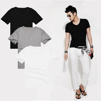 new 2014 summer fashion top cotton short sleeve clothing man's t shirt brand man T-Shirts V-neck t shirt