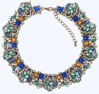 G2207 MEW 2014 Z design chunky chocker necklace for fashion women & pendant bib chunky jewelry necklace wholesale