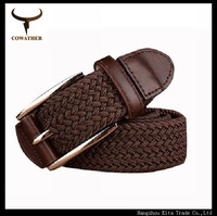 Newest 2014 knitted men belts for men,strap male metal pin buckle,cintos masculino free shipping