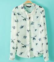 2014 Hitz women's European and American style long-sleeved shirt printing