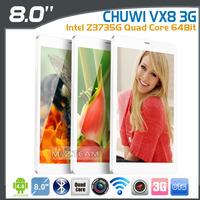 Original 8 inch Chuwi VX8 3G Tablet Intel Z3735G Quad Core 64Bit IPS OGS 1280x800 Intel HD Graphics Dual Cameras Phone Call