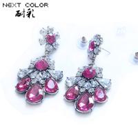 Earrings For Women Top Fashion Free Shipping 2014 New Women Earrings Brincos Jewelry Accessories Eardrop Sterling Earring