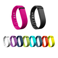 Small Size Replacement Rubber Band Wireless Activity Bracelet Wristband For Fitbit Flex With Metal Clasp CA000115