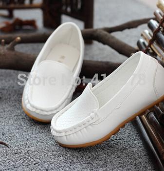 Оптовая продажа евро размер 21-25 детская обувь дети искусственная кожа кроссовки для мальчиков и девочек лодка обуви скользить по мягкой подошвой свободного покроя квартиры