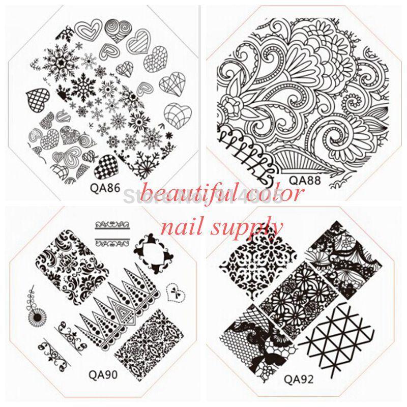 wholesale and retail of QA1-98 nail art image plate.nail template CHOOSING DESIGNS for qa series nail beauty TOOLS(China (Mainland))