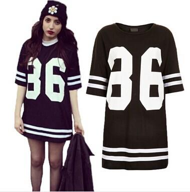 Plus size baseball jersey purple online marketing for Baseball jersey shirt dress