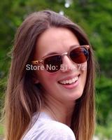 min order 1 piece high quality handmade 3 colors high quality cheap handmade wood sunglasses 2014 clubmaster sunglasses