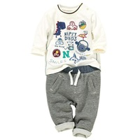 New Arrival Kids Casual Clothing Sets 2014 New Children's Sets Boys cartoon set long-sleeve  Free shipping