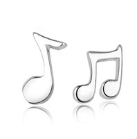 Hot New Fashion Classic  925 Sterling Silver Cute Accent Women Party Stud Earrings Music Genie For Ladies Elegant Wholesale
