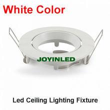 Branco suporte da lâmpada do teto GU10 / MR16 teto spot lâmpada dispositivo elétrico / iluminação de halogéneo rodada titular círculo geada branca para cozinha de(China (Mainland))