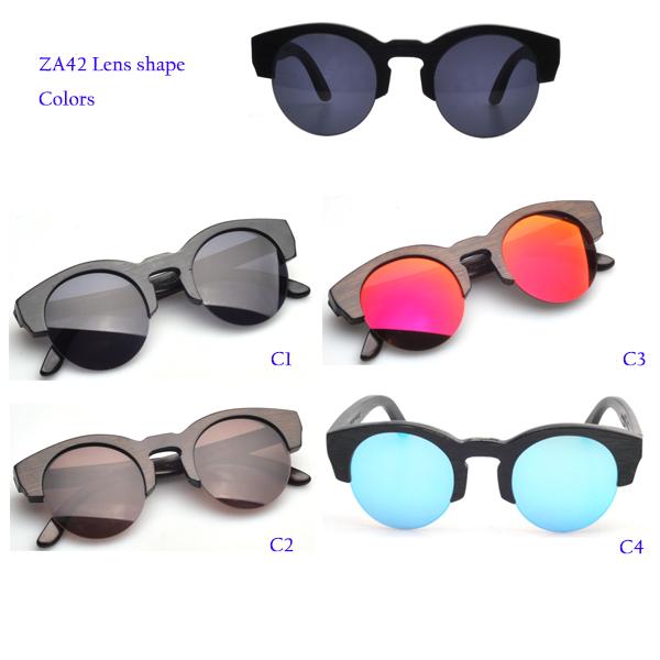 ZA42 Bamboo sunglasses Branded style glasses CR39 lens wood sunglasses(China (Mainland))