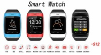 2014 Newest 1.54''inch Bluetooth smart watch ZGPAX S12 for smart phone Bluetooth 3.0 bluetooth dial sync SMS/ call free shipping