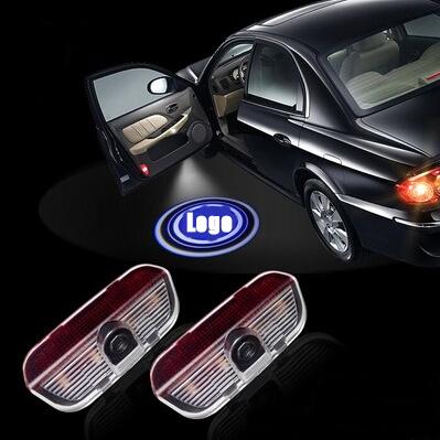 2X LED Car Door Welcome Light Laser Projector Logo Door Ghost Shadow Lighting LED Emblem For Volkswagen Touareg CC Sharan Passat(China (Mainland))