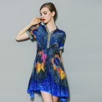 women summer dress vintage dress flower floral print loose plus size pullovers women work wear slim fit silk casual dress