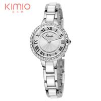 2014 Luxury Brand Kimio Watch Women Dress Watch Rhinestone Roma Header Golden Ladies Casual Bracelet Watch