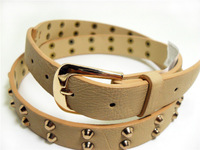 2014 new fashion   women's rivet waist,high-quality lady's strap,all match female belt,factory outlet buy 2 get 1