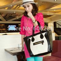 faux Leather Smile tote bag  Women's Designer Brand Vintage tote Shoulder Bags