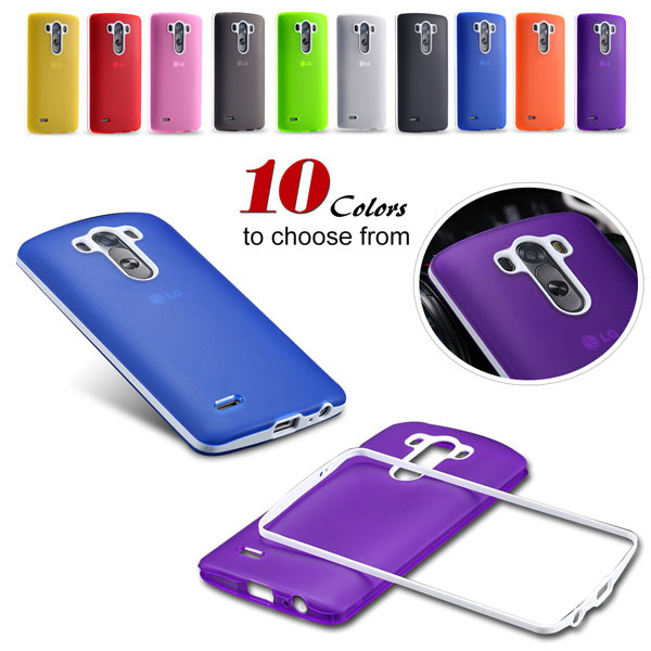 G3 Soft TPU Combo Case for LG G3 Cover For D858 D859 Plastic Back Phone Shell