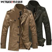 2015 Winter Men Coat For Men Top Brand Windbreak Parkas Thickening Velvet Jacket Factory Direct Wholesale Winter Coats