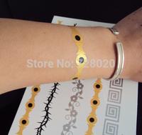 Wholesale Newest hot sale Metallic gold silver black bracelet temporary tattoo