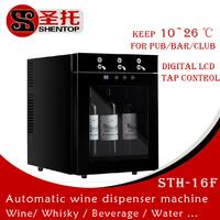 Shentop Hot Sale Wine Dispenser Dispensing Machine Wine Refrigerator 3 bottles Wine Dispenser STH-16F