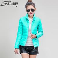 2014 NEW brand new women's sport jacket to keep warm in winter padded silk, ladies fashion casual Slim padded winter jacket 269T