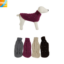 Cotton Dog Clothes Pet Winter Sweater Keep warming  Dog Clothing Warm Puppy Woolen Winter Wear 4Sizes Freeshipping High Quality(China (Mainland))