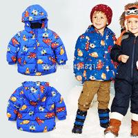Hot sale NEXT Spring brand kids boy blue down jacket car design children boy padded jacket warm coat jacket boys parkas 4-8-9yrs