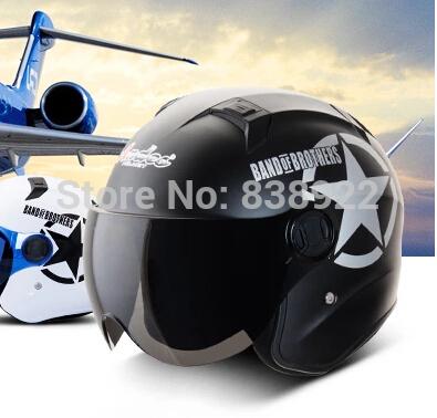 New Motorcycle Helmet Capacete Mototcycle Motor bike Half Face Anti-UV autumn Motorcross Helmet 5# Hat Andes3387(China (Mainland))