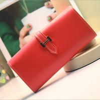 Fashional Brand Girl Women Wallets Leather Zipper Long Bifold Clutch Wallet Long PU Card Horder Women Handbag Slim Purse