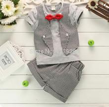 Garçons vêtements Set new summer garçons costumes bébé garçons été à manches courtes pantalon de costume / 2 pc ensembles enfants vêtements(China (Mainland))